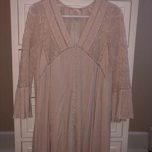 Altar'd State Blush Pink Gold Dress